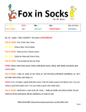 Fox in Socks Readers Theater