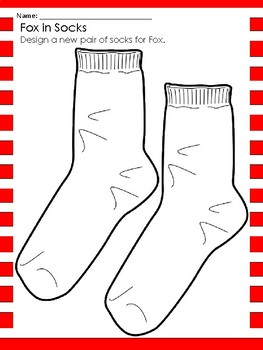 Dr. Seuss Fox in Socks themed Writing Prompts and Printable Socks