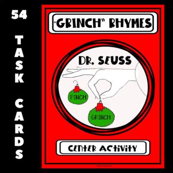 "Dr. Seuss ""GRINCH"" Rhyming Center Activity"