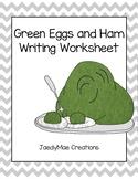 Dr. Seuss Green Eggs And Ham Writing Worksheet