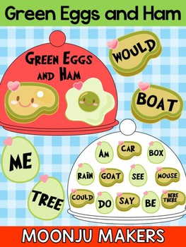 Dr. Seuss Green Eggs and Ham - Moonju Makers, Activity, Craft, Rhyming, Writing