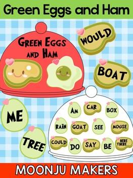 Dr. Seuss Green Eggs and Ham - Rhyming Activity - Moonju Makers, Editable Center