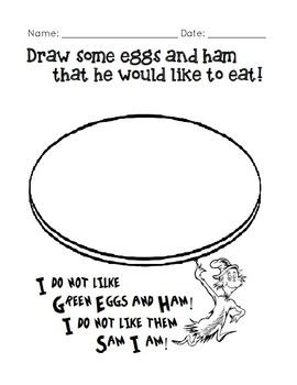 image regarding Green Eggs and Ham Printable identified as Environmentally friendly Eggs And Ham Routines Worksheets Lecturers Shell out