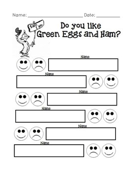 Dr. Seuss Green Eggs and Ham Activity Packet