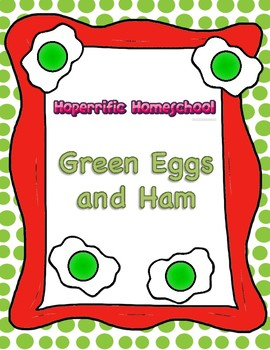Dr Seuss Green Eggs And Ham Addition Worksheet By