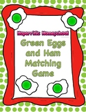 Dr. Seuss Green Eggs and Ham Matching Game