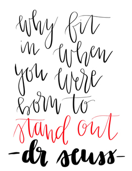 Dr. Seuss Hand Lettered Quotes