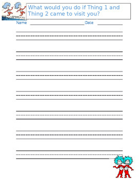 Dr. Seuss Handwriting Paper with Prompts