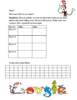 Dr. Seuss Hat Stack Graphing Activity