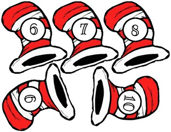Dr. Seuss Hats with numbers