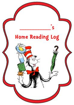 Dr Seuss Home Reading Log