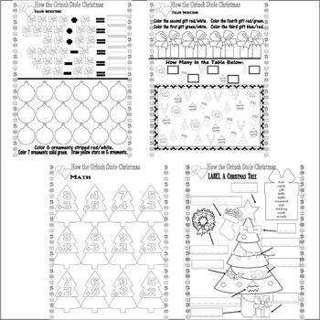 Dr Seuss How Grinch Stole Christmas Fun Activity Pack Spelling Vocabulary Sheets