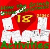 Dr Seuss How Grinch Stole Christmas Fun Activity Pack Spel