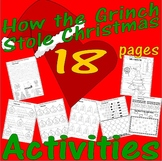 How The Grinch Stole Christmas Fun Activity Pack Spelling Math Rhyme Worksheets