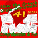 How The Grinch Stole Christmas Reading Comprehension Book Companion Pack