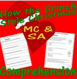 How The Grinch Stole Christmas  Reading Comprehension Multiple Choice Questions