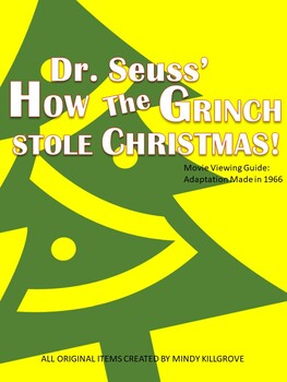 Dr. Seuss' How the Grinch Stole Christmas! Movie Viewing Guide (1966)