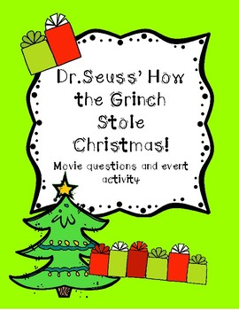 drseuss how the grinch stole christmas movie questions appreciation etc - Dr Seuss How The Grinch Stole Christmas
