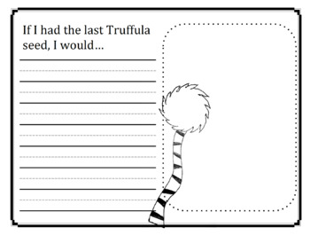 The Lorax Inspired Writing Prompt