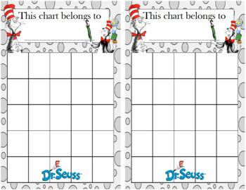 Dr. Seuss Incentive Chart