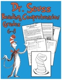 Dr. Seuss - Informational Text Passage with Comprehension Activities