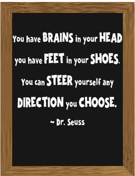 Dr. Seuss Inspirational Quotes - Chalkboard Style