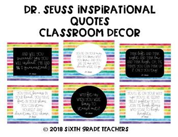 Dr. Seuss Inspirational Quotes Classroom Decor