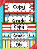 Dr. Seuss (Copy, Grade, File) Classroom Labels