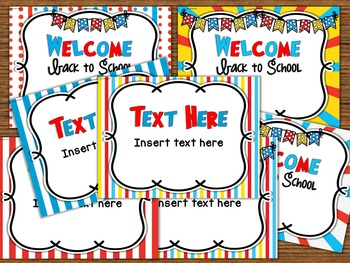 Dr. Seuss Inspired - Open House PowerPoint