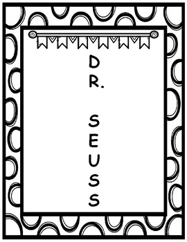 Dr. Seuss Inspired Acrostic Poem Poetry Frame