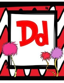 Dr. Seuss Inspired Alphabet