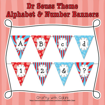 Story Book Children Inspired Alphabet & Numbers Classroom Banner Decoration