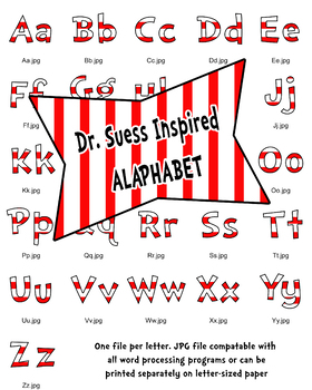 Dr Seuss Inspired Bulletin Board Alphabet
