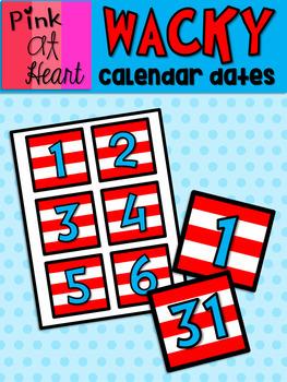 Dr. Seuss Inspired Calendar Dates