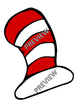 Dr. Seuss Inspired Cat in the Hat ACCENTS LOCKER TAGS CENT