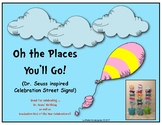 Dr. Seuss Inspired Celebration Street Signs