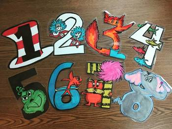 Dr. Seuss Inspired Character Numbers