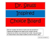Dr. Seuss Inspired Choice Board