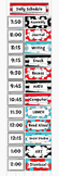 Dr Seuss Inspired Class Daily Schedule Pocket Chart Cards EDITABLE
