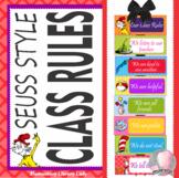 Dr. Seuss Classroom Rules - EDITABLE