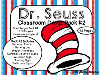 Dr. Seuss Inspired Classroom Decor Pack #2