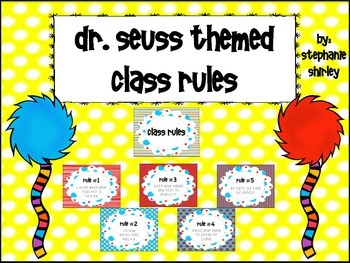 Seuss Inspired Classroom Rules