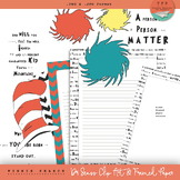 Dr Seuss Inspired Clip Art & Framed Papers