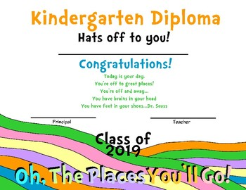 Dr. Seuss Inspired Diploma