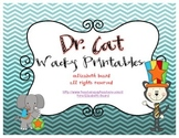Dr. Seuss Inspired Dr. Cat Wacky Day Printables