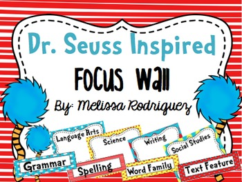 Dr. S Inspired Focus Wall (Objectives) Editable