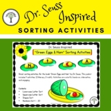 """Dr. Seuss Inspired """"Green Eggs & Ham"""" Literacy and Math Sorting Activities"""