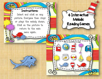 Wacky Melodies - Dr. Seuss Inspired Interactive Game - BUNDLE – 4 GAMES!