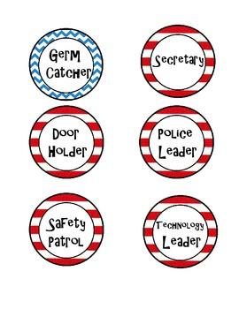 Dr. Seuss Inspired Job Labels