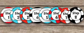 Dr Seuss Inspired Large Editable 8-inch Circle Tags